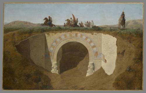 4- Felix Thomas, La visite du pacha de Mossoul aux fouilles de Khorsabad © RMN-Grand Palais (musée du Louvre) – Stephane Marechalle
