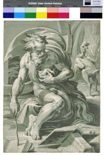 8- Ugo da Carpi d'après Parmigianino_Diogène 1527-1528 Gravure en quatre bois 475 x 345 mm Fondation Custodia-jpg