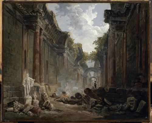 19- Hubert Robert, Vue imaginaire de la grande galerie ©  RMN-Grand Palais (musée du Louvre) – Jean-Gilles Berizzi