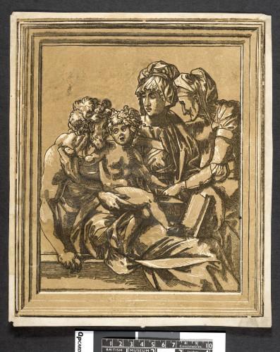 10- Monogrammiste ND_Sainte Famille  avec sainte Elisabeth gravure en couleur PD W-4-27The Trustees of the British Museum-jpg