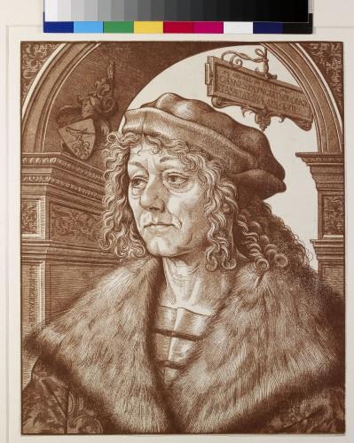1- Hans Burgkmair_Portrait d'Hans Baumgartner gravure en trois bois Oxford Ashmolean WA 1863-3053 Image  Ashmolean Museum University of Oxford-jpg