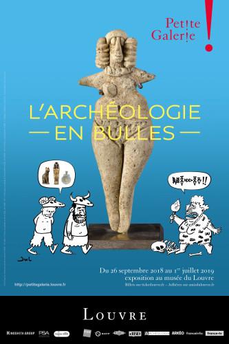 Affiche de l'exposition : L'Archéologie en bulles