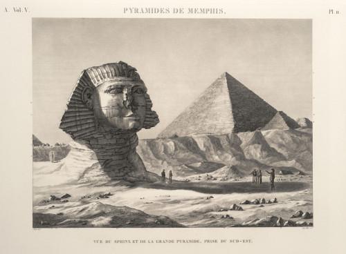 2- Friedrich Schroeder, Le Sphinx et la Pyramide © RMN-Grand Palais