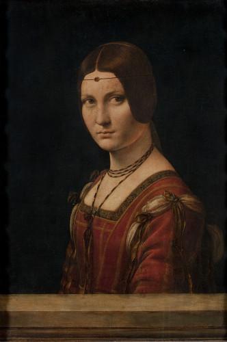 Leonard de Vinci, La Belle Ferronniere © Musée du Louvre, dist. RMN - Grand Palais / Angèle Dequier