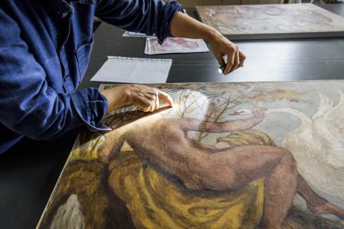Restauration des fresques d'Eugène Delacroix à Valmont    © 2018 – Musée Delacroix / musée du Louvre - Olivier Ouadah