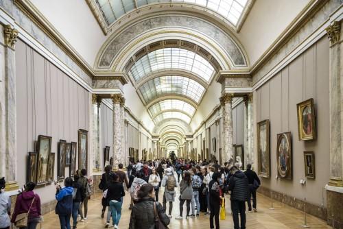The Grande Galerie in the Louvre © Musée du Louvre, dist. RMN - Grand Palais / Olivier Ouadah