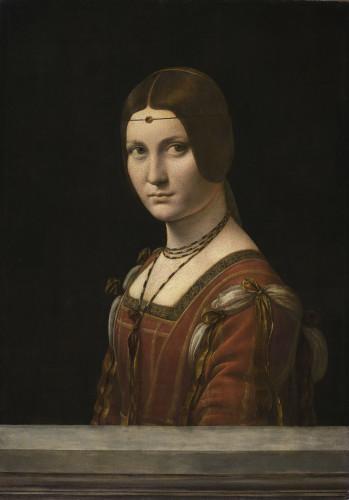 Léonard de Vinci, La Belle Ferronnière (détail), musée du Louvre, département des Peintures     © Musée du Louvre,  dist. RMN - Grand Palais /  M. Urtado