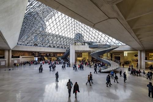 Vue sous la pyramide © Musée du Louvre dist- RMN – Grand Palais / Olivier Ouadah