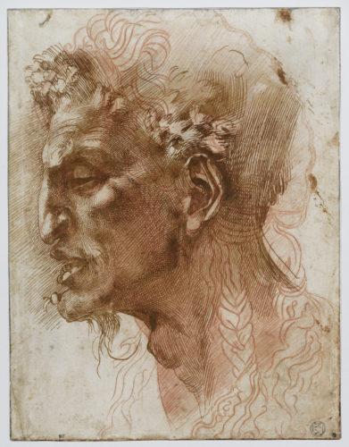 Michelangelo Buonarroti, known as Michelangelo, Satyr's Head, Department of Prints and Drawings, Musée du Louvre, © Musée du  Louvre,  dist. RMN-Grand Palais/Suzanne Nagy