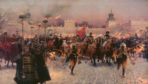 Józef Brandt, Départ du roi Jean III (détail), 1887 © Musée national de Varsovie / P. Ligier