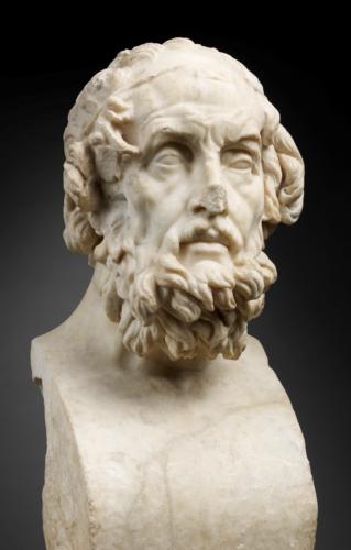 Imaginary portrait of the poet Homer, 2nd century A.D., after a Greek original created around 150 B.C., Paris, Musée du Louvre © Musée du Louvre, dist.RMN-GP / T. Ollivier