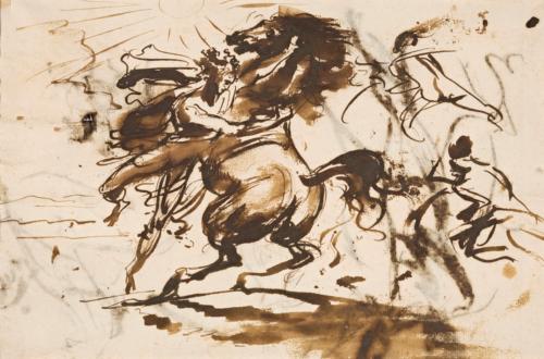 Antoine-Jean Gros, Alexandre domptant Bucéphale, vers 1800, département des Arts graphiques, musée du Louvre © RMN-Grand Palais / M. Urtado
