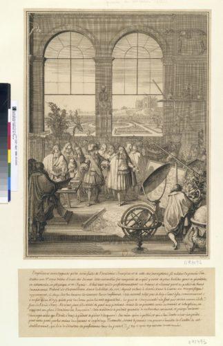 11- Sebastien Leclerc, Frontispice pour Claude Perrault Mémoires pour servir a l'histoire naturelle des animaux, Paris, Imprimerie royale, 1671, Eau-forte et burin-jpg