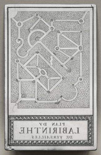 10- Sébastien Leclerc, Labyrinthe de Versailles Plan du Labyrinthe de Versailles, 1674, Paris, musée du Louvre-jpg