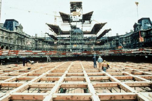 15- La Pyramide en construction, 1987 © Musée du Louvre (fonds EPGL)-Patrice Astier-jpg