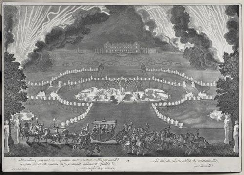 8- Jean Lepautre, I'illuminations du Palais et des Jardins de  Versailles, 1679, Eau-forte et burin sur cuivre aciéré, Paris, musée du Louvre-jpg