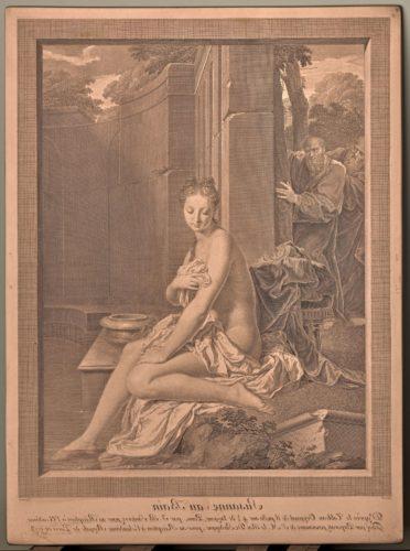 7- Carlo Antonio Porporati d'après Jean-Baptiste Santerre, Suzanne au bain, 1773, Eau-forte et burin sur cuivre, Paris, musée du Louvre-jpg