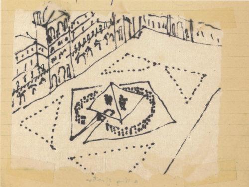 7- Yann Weymouth, Projet d'accès à l'accueil de la Pyramide 1983 © Yann Weymouth-jpg