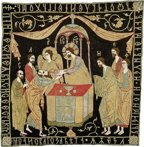 6- Panoplie liturgique 3_Voile de calice © Monastère de Putna, Roumanie-jpg