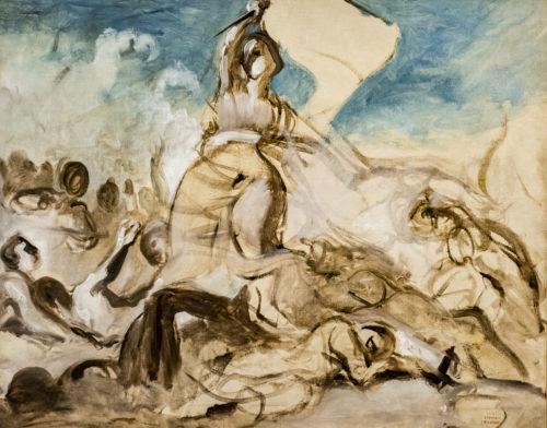 Eugene Delacroix, Esquisse pour La liberté guidant le peuple – Musée du Louvre (dist. RMN-GP)  Hervé Lewandowski-jpg