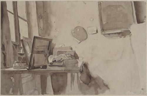 Eugene Delacroix, Un coin d'atelier – RMN-Grand Palais musee du Louvre  Michel Urtado-jpg