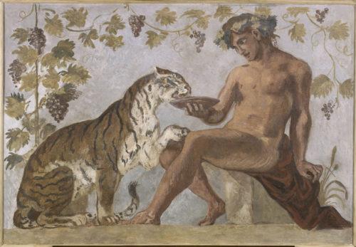Eugène Delacroix, Bacchus et un tigre - Musée du Louvre (dist. RMN-GP)  Hervé Lewandowski-jpg