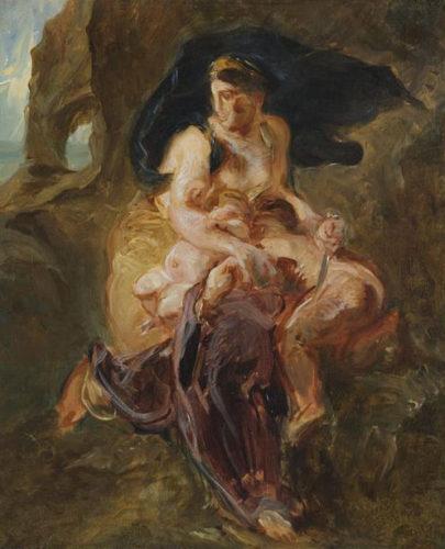 Eugène Delacroix, Esquisse pour Médée furieuse - RMN-Grand Palais Stéphane Maréchalle-jpg