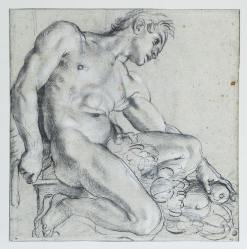 9- Annibale Carrache, Ignudo à demi-agenouillé ©  Musée du Louvre, dist- RMN-Grand Palais-–Suzanne Nagy-jpg
