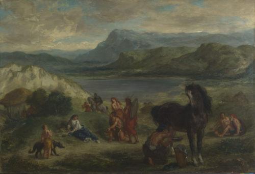 Eugène Delacroix, Ovide chez les Scythes - Londres, The National Gallery-jpg