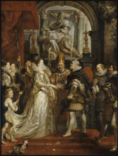 Petrus Paulus Rubens, Le Mariage par procuration de Marie de Médicis et de Henri IV, à Florence, le 5 octobre 1600 © 2000 RMN-GP (musée du Louvre) Ojéda /Le Mage-jpg