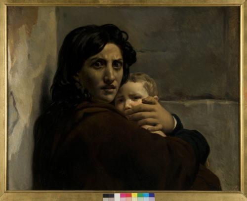 Léon Cogniet, Têtes de femme et d'enfant, esquisse pour Le Massacre des Innocents - Orléans, Musée des Beaux-Arts  François Lauginie-jpg