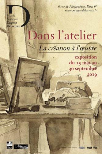 Affiche Musée Delacroix « Dans l'atelier : La création à l'oeuvre »-jpg