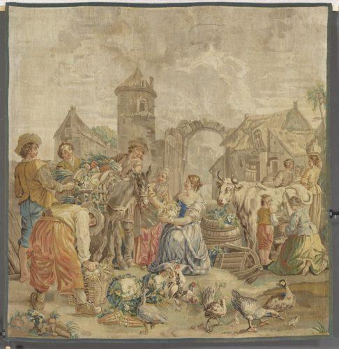 Manufacture de Beauvais  Le depart pour le marche  Musee du Louvre dist- RMN – Grand Palais  Thierry Ollivier-tif