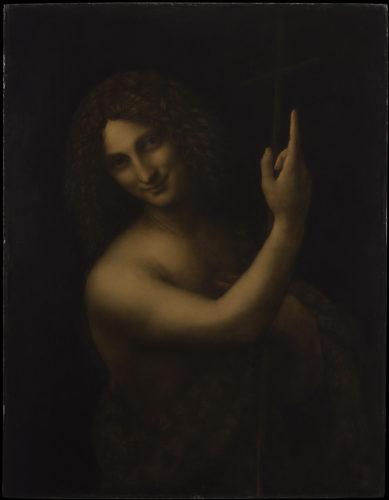 21. Léonard de Vinci, Saint Jean Baptiste © RMN-Grand Palais (musée du Louvre) / Michel Urtado
