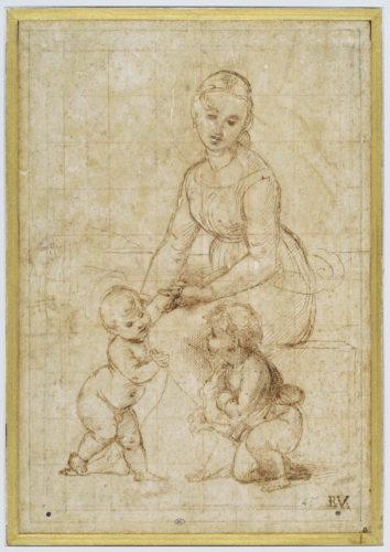 4- Raphael Etude pour la Belle Jardiniere  Musee du Louvre dist- RMN-Grand Palais – Suzanne Nagy -jpg