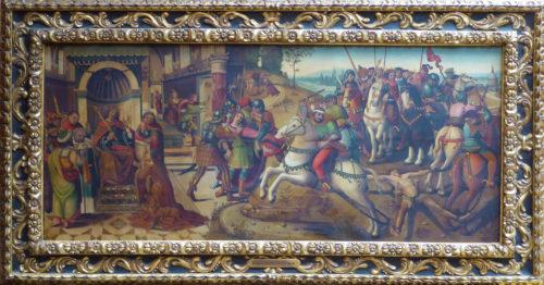 Scène de la vie de Thésée et d'Hippolyte, attribué au Maître des Cassoni Campana.  © Maison de ventes Paul Pastaud