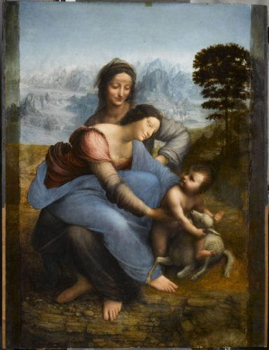 17. Léonard de Vinci, Sainte Anne, la Vierge et l'Enfant Jésus jouant avec un agneau, dite La Sainte Anne © RMN-Grand Palais (musée du Louvre) / René Gabriel Ojéda
