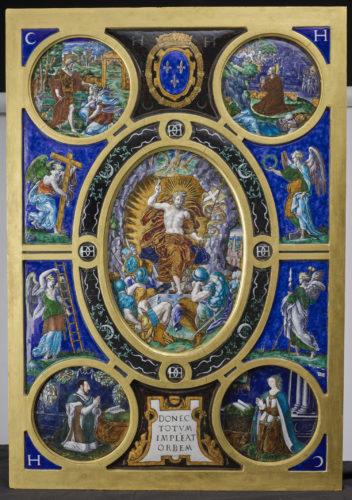 Leonard Limosin Retable de la Sainte-Chapelle  La Resurrection du Christ musee du Louvre  RMN-GP musee du Louvre Stephane Marechalle-jpg