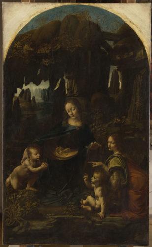 8. Léonard de Vinci, Vierge à l'Enfant avec saint Jean Baptiste et un ange, dite La Vierge aux rochers © RMN-Grand Palais (musée du Louvre) / Michel Urtado