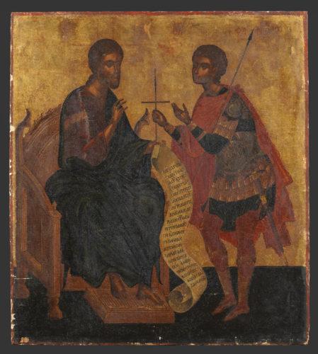 Le Christ et saint Phanourios, Silvestros Desos. © Musée du Louvre / Philippe Fuzeau