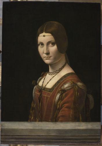 12. Léonard de Vinci, Portrait d'une dame de la cour de Milan, dit à tort La Belle Ferronnière © RMN-Grand Palais (musée du Louvre) / Michel Urtado
