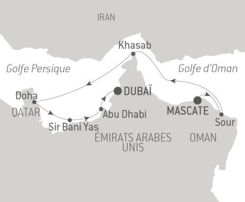 Itinéraire_Croisière_Trésors du golfe Persique