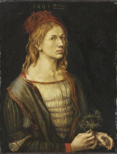 Albrecht Dürer_Autoportrait au chardon (détail)_ (c) RMN-Grand Palais / musée du Louvre / Thierry Ollivier-jpg