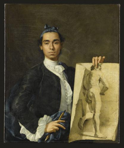 Luis Eugenio Melendez, Portrait de l'artiste tenant une académie © RMN-Grand Palais (Musée du Louvre) - Jean-Gilles Berizzii-jpg