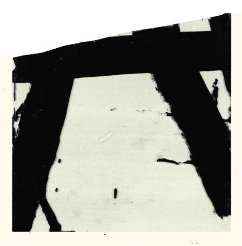 2. Pierre Soulages, Goudron sur verre, 45,5 x 45,5 cm, 1948 © Archives Soulages © ADAGP, Paris 2019