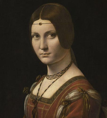 Leonard de Vinci_La Belle Ferronnière (détail)(c)  Musée du Louvre /dist- RMN – Grand Palais / M- Urtado-jpg