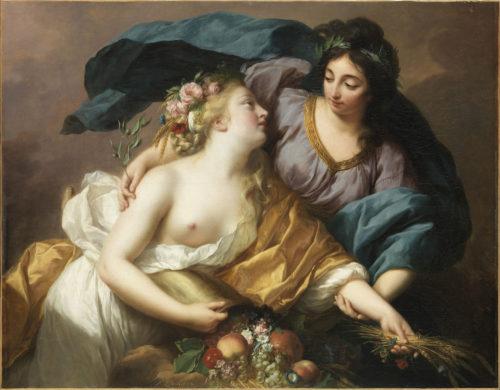 14. Élisabeth Louise Vigée Le Brun, La Paix ramenant l'Abondance, 1780, Salon de 1783 © RMN-Grand Palais (musée du Louvre) / Philippe Fuzeau