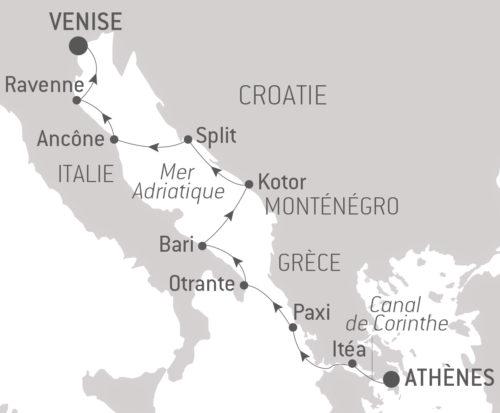 Itinéraire_Croisière_Joyaux culturels d'Adriatique