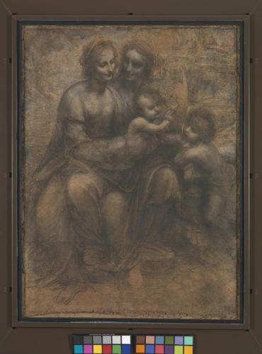 16. Léonard de Vinci, Sainte Anne, la Vierge, l'Enfant Jésus et saint Jean Baptiste © The National Gallery, London