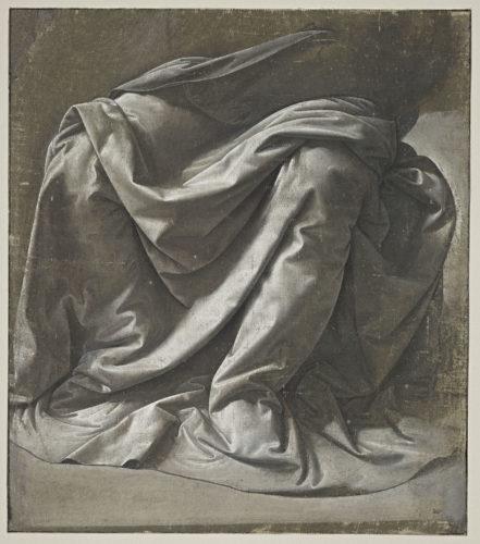 2. Léonard de Vinci, Draperie Saint-Morys. Figure assise © RMN-Grand Palais (musée du Louvre) / Michel Urtado